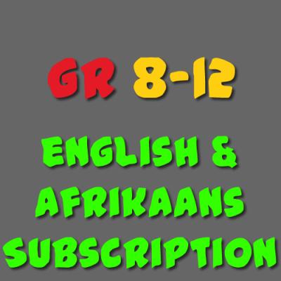 English & Afrikaans Subscription Grade 8 - 12