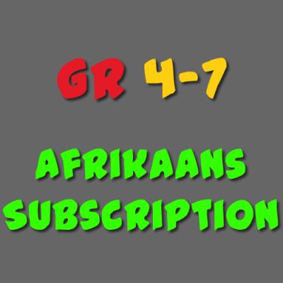 Afrikaans Subscription Grade 4 - 7