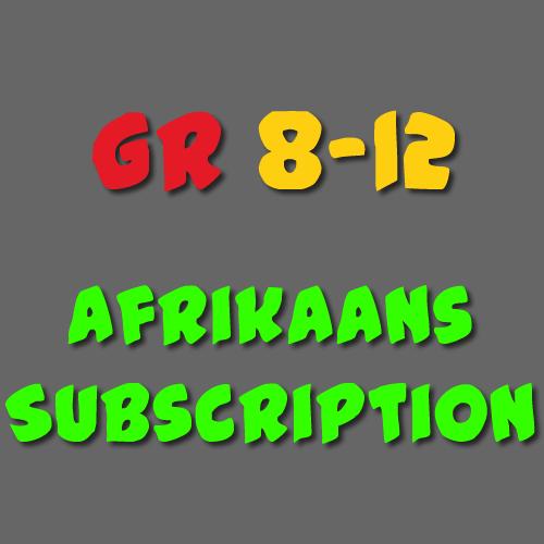 Afrikaans Subscription Grade 8 - 12