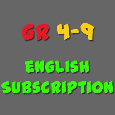 English Subscription Grade 4 - 9