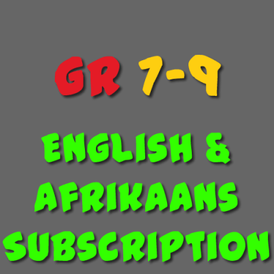 English and Afrikaans Subscription Grade 7 - 9