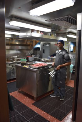 Cooking in the galley