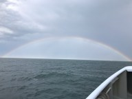 Huge rainbow after a storm.
