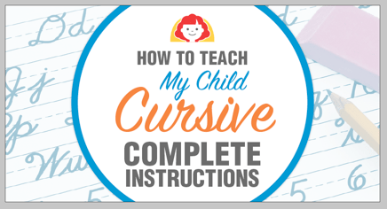 The Teacher Isnt Following My Childs >> How To Teach My Child Cursive Complete Instructions The