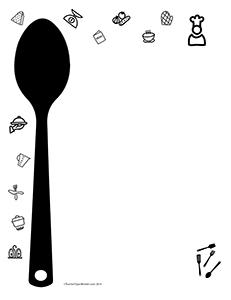 Restaurant Cooking- Portrait- Blank- Teacher Clipart