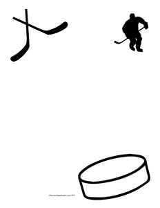 Let39s Play Hockey! Blank Teacher Clipart Borders