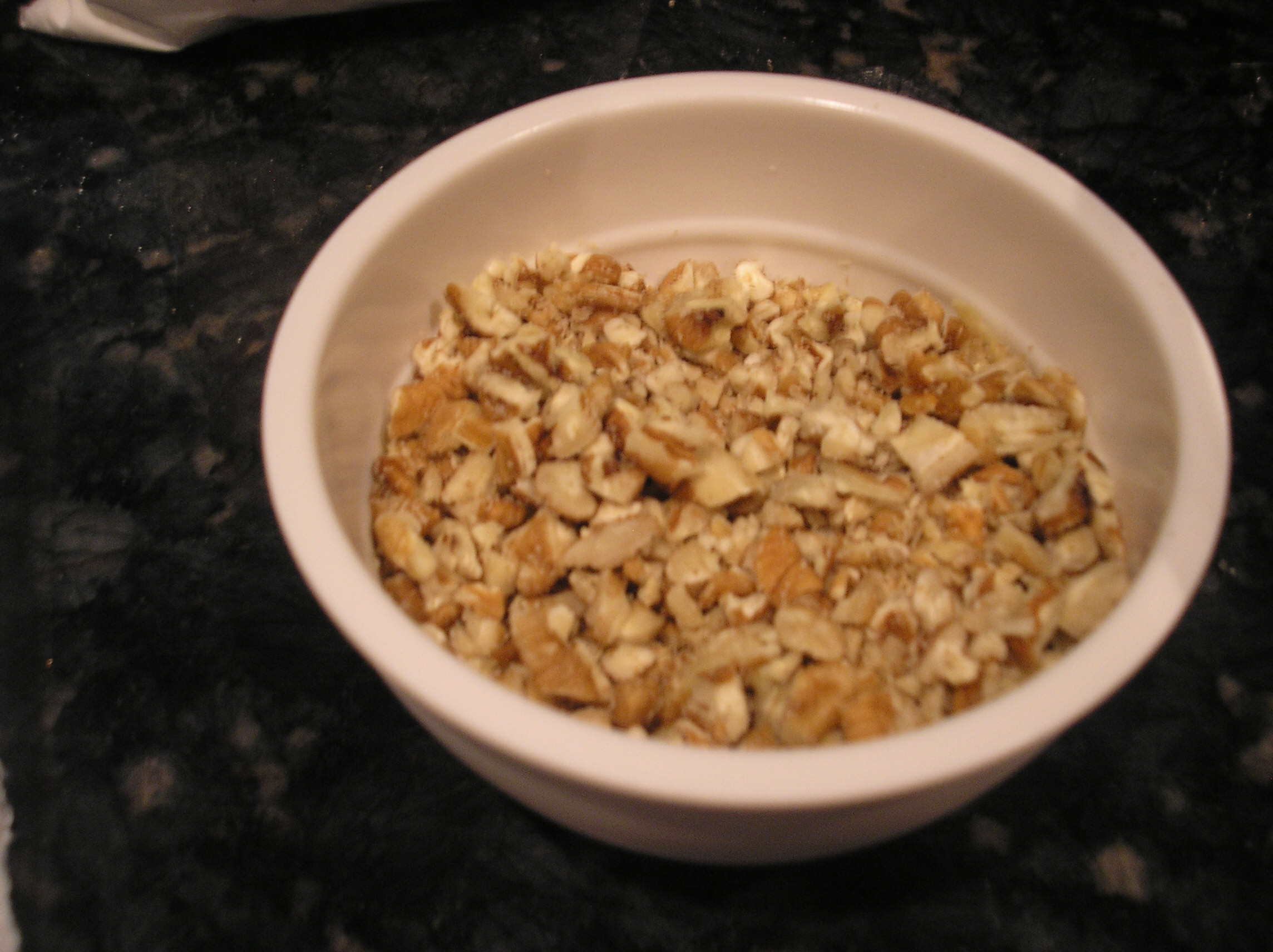 Add 1/2 to 1 cup of chopped pecans