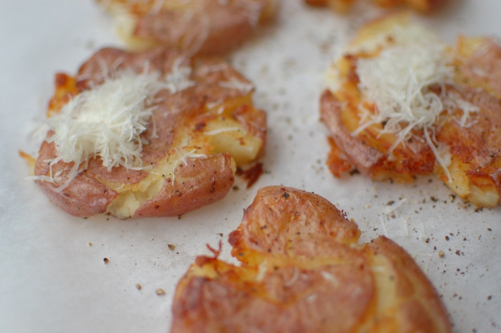 Panfried Smashed Potatoes (2/2)