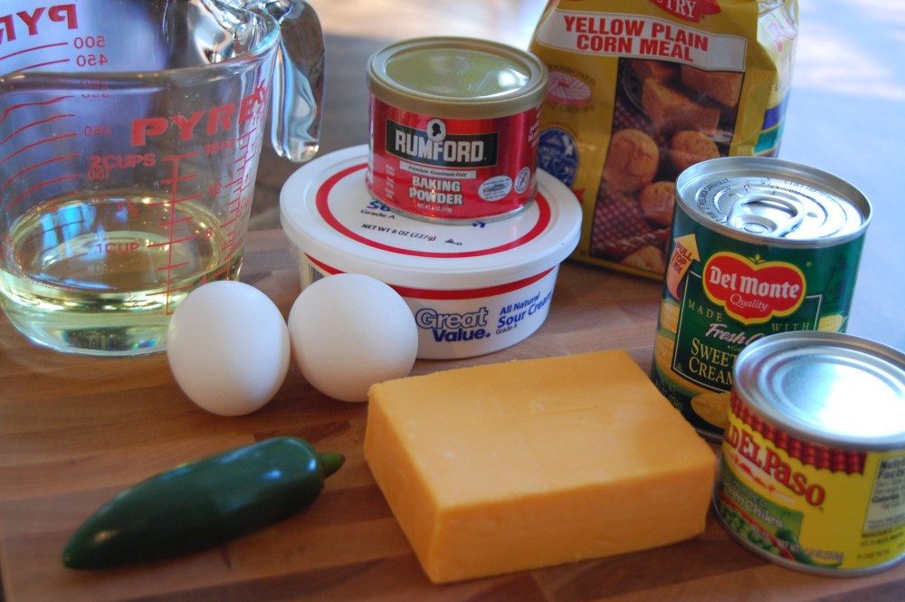 Cornbread Muffins with Cheese and Chilies- another Paula Deen recipe (2/6)