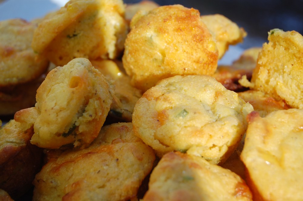 Cornbread Muffins with Cheese and Chilies- another Paula Deen recipe (1/6)