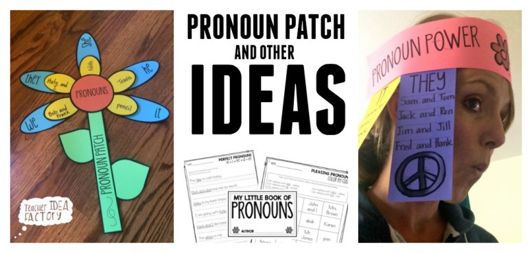 PRONOUN PATCH BULLETIN BOARD IDEA