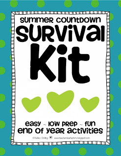 SUMMER COUNTDOWN SURVIVAL KIT + END OF THE YEAR FREEBIE