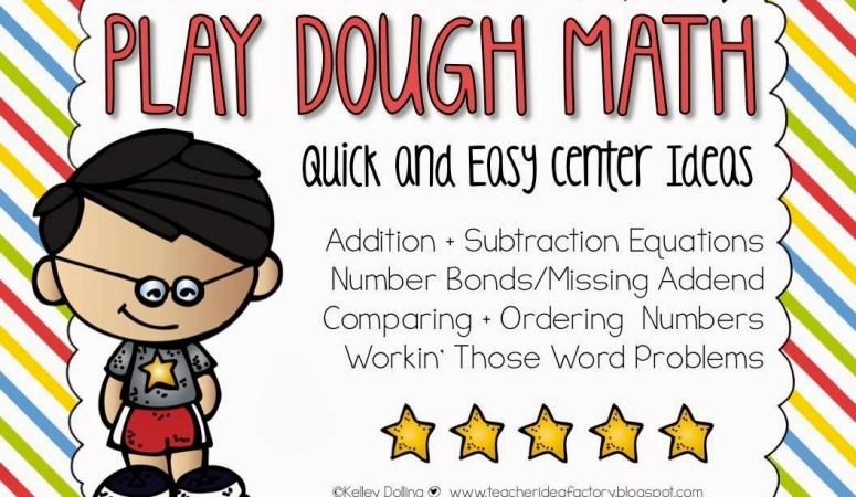 PLAY DOUGH MATH – COMMON CORE ALIGNED