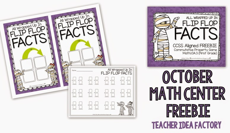 ALL WRAPPED UP IN FLIP FLOP FACTS – HALLOWEEN THEMED FREEBIE