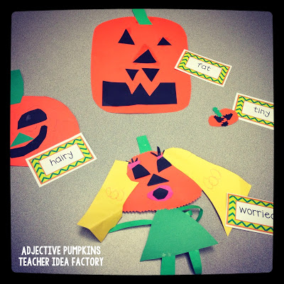 THROWBACK THURSDAY – ADJECTIVE PUMPKINS + SPOOKY WRITING FREEBIE