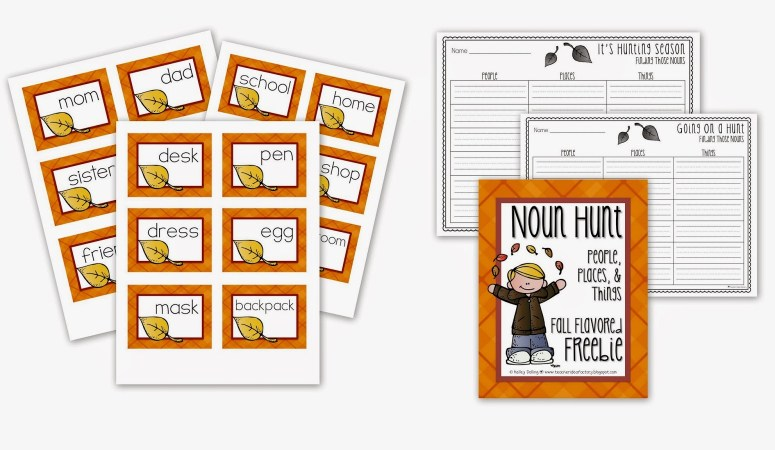 FALL IS IN THE AIR — LET'S USE IT TO TEACH NOUNS {FREEBIE ALERT}