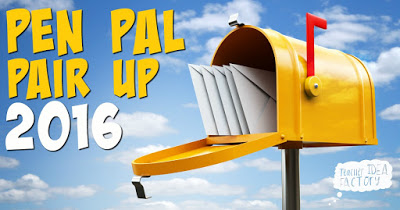 PEN PAL PAIR UP — SIGN UP NOW!