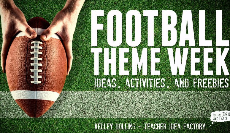 A FOOTBALL THEME WEEK THAT YOUR KIDS WILL LOVE . . . THANKS TO ORIENTAL TRADING