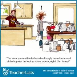 funny cartoon cartoons shopping frazzled wife teacherlists comics