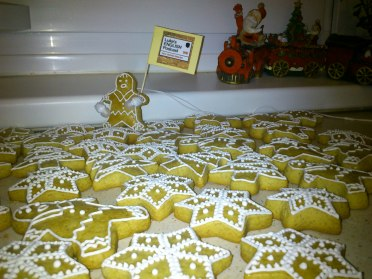 Esther and so many ginger biscuits