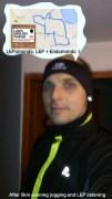 Sebastian from Poland - feeling good after a 5 km jog