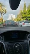 Yaron Aharonov in a traffic jam in Israel