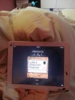 basma-salman listening in bed I think!