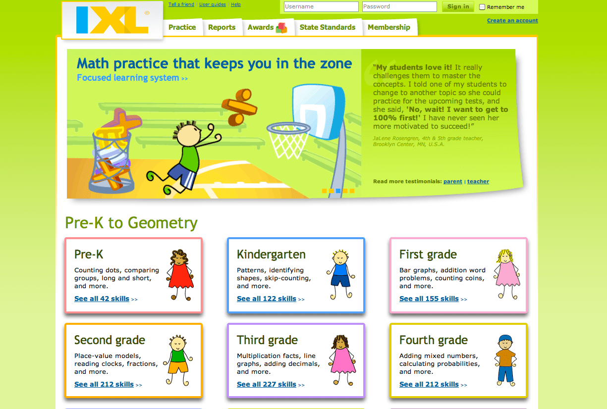 Ixl Math Website Review And Kidsites Review