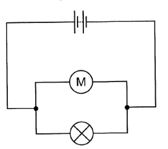 a. Draw a ammeter symbol on this circuit diagram where it