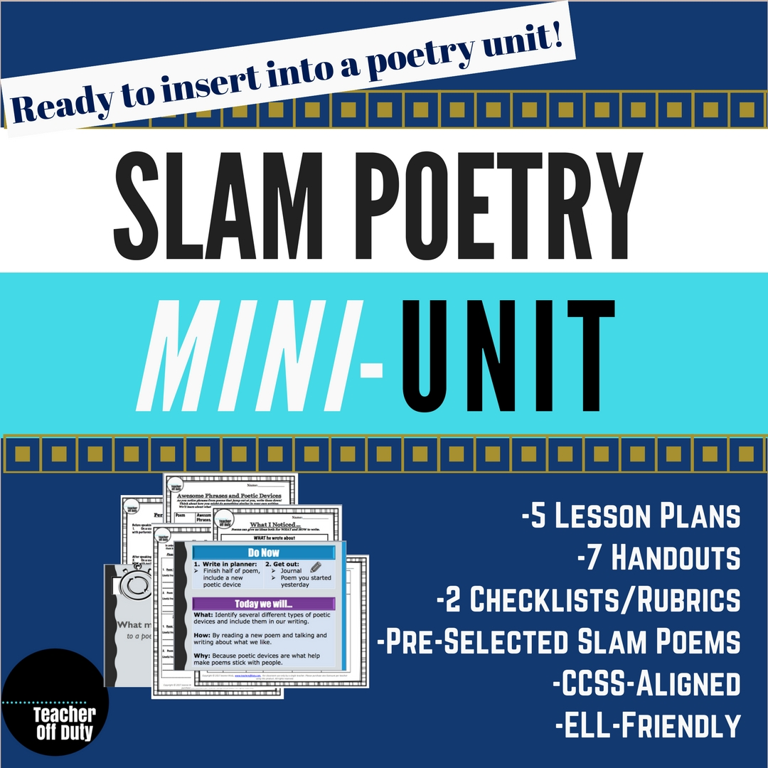 One Week Slam Poetry Mini-Unit Slam Poems and Transcripts