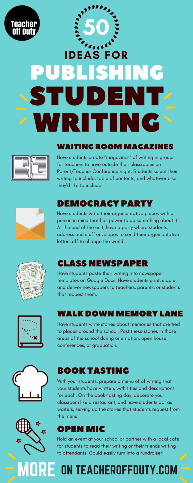 50+ Ideas for Publishing Student Writing | Teacher Off Duty