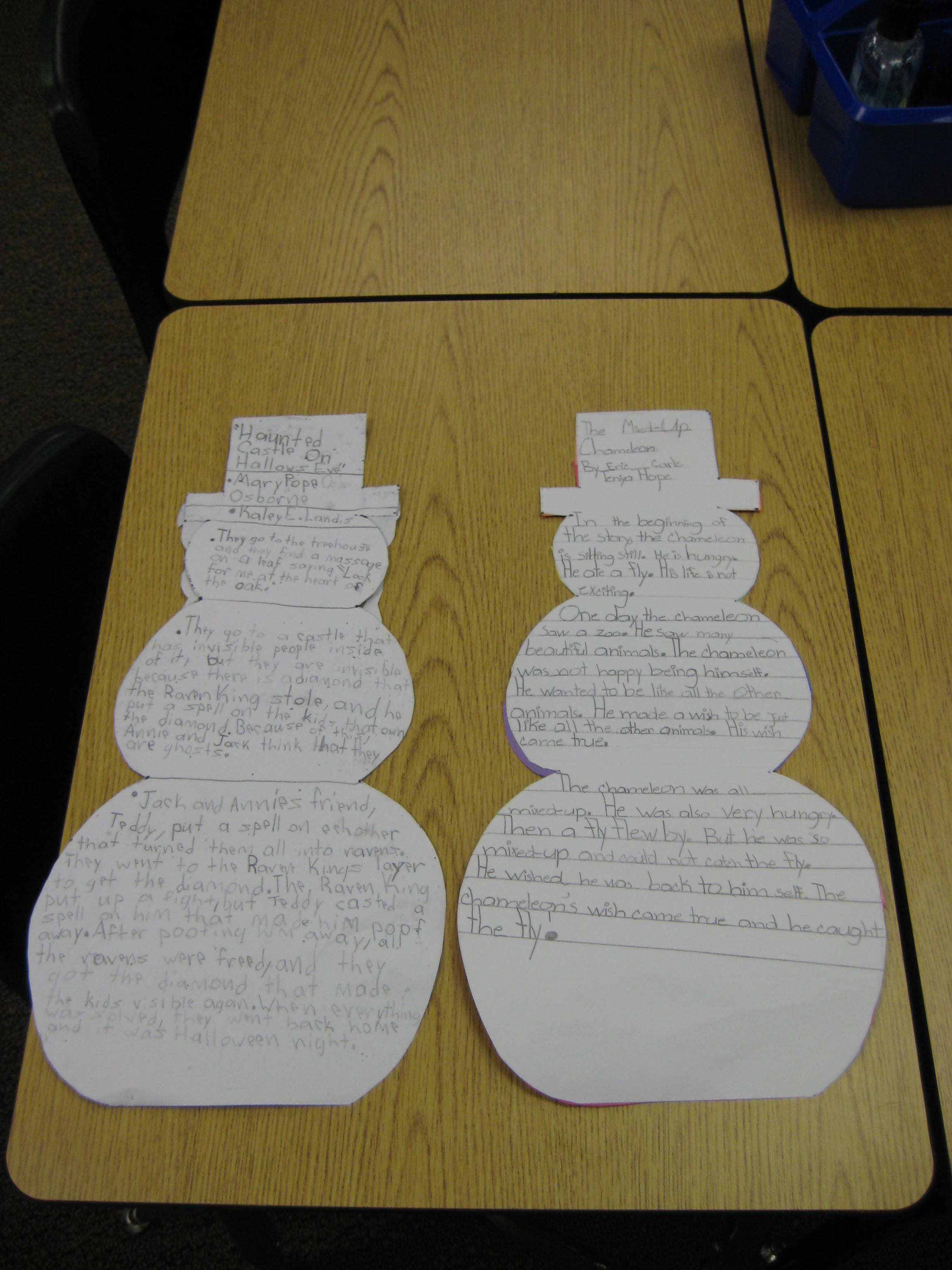 Snowman Book Report Due Thursday January 23rd