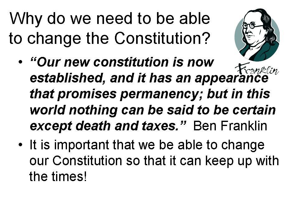 Scavenger Hunt Constitution