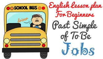 English Lesson Plan for Beginners (A1) – Past Simple of To Be – Jobs