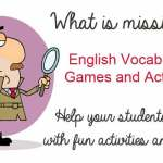 """What's Missing?"" – English Vocabulary Game – Help Your Students Learn With Fun Games"