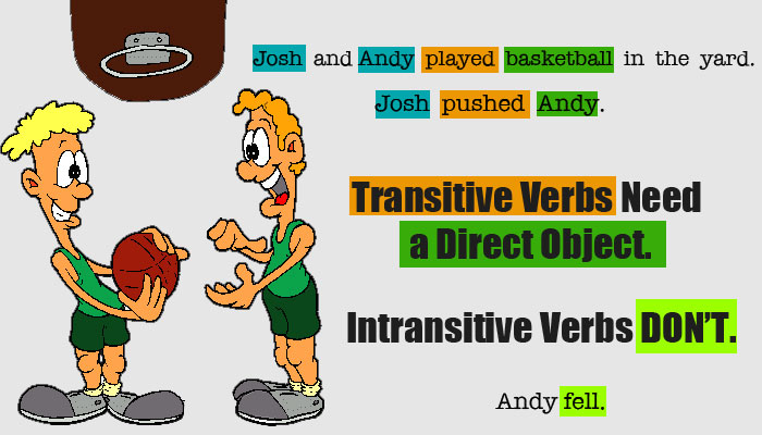 transitive and intransitive verbs - esl grammar