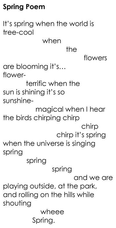 Spring Poem 2015
