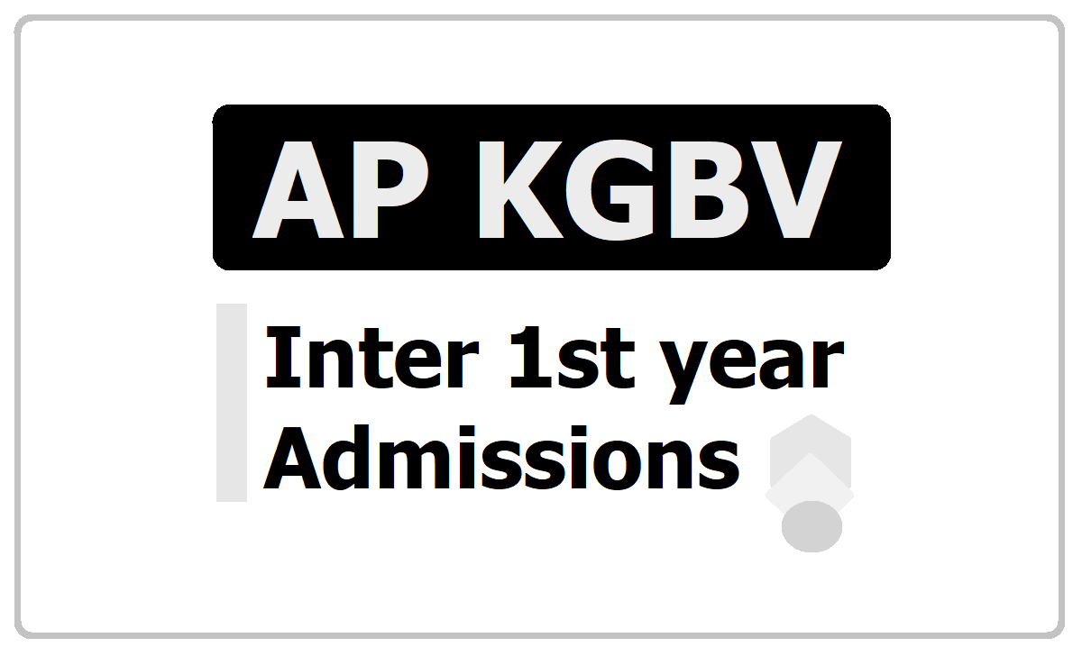 AP KGBV Inter 1st year Admissions 2020, Submit Application