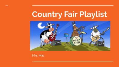 Country Fair Playlist