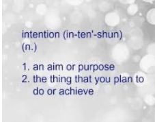 Setting Intentions: The Author's Craft