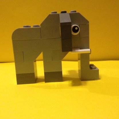 Lego, Elephant, Creator box
