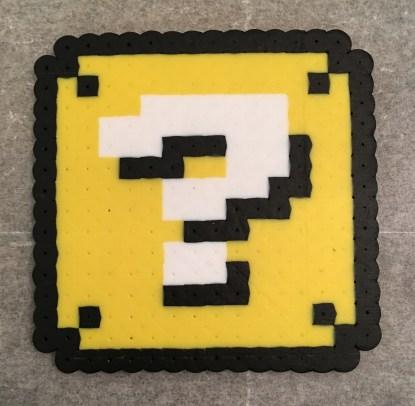 Mario, Perler Beads, Question Block