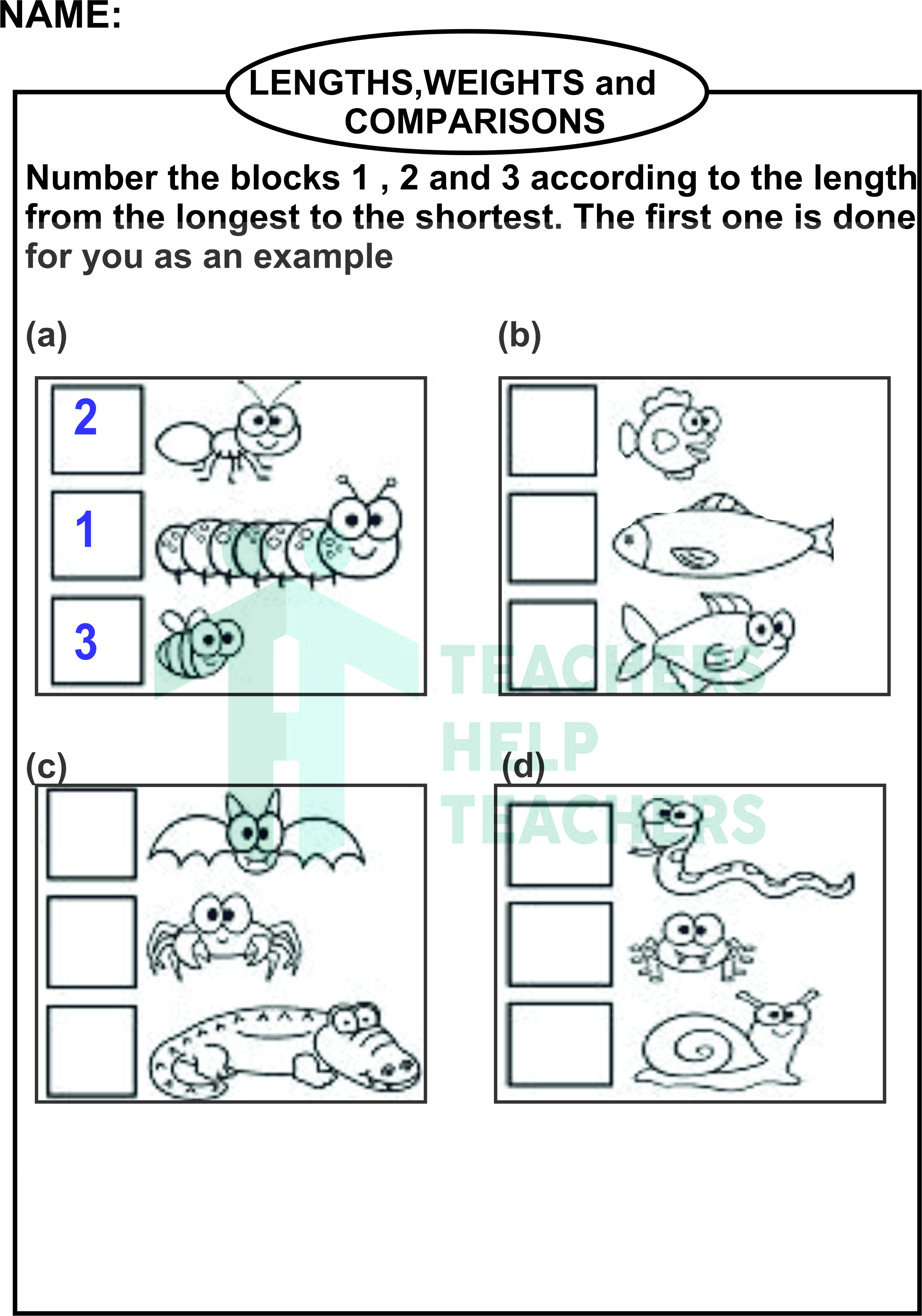 Weight Worksheet For 1st Grade