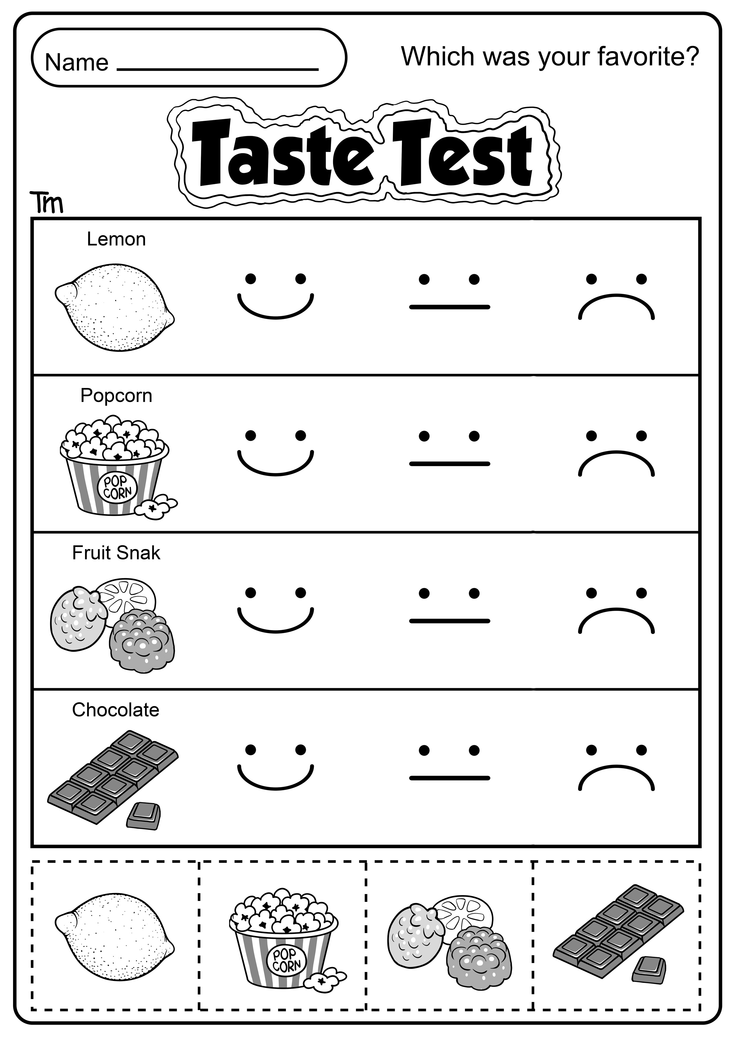 The Five Senses Taste Test
