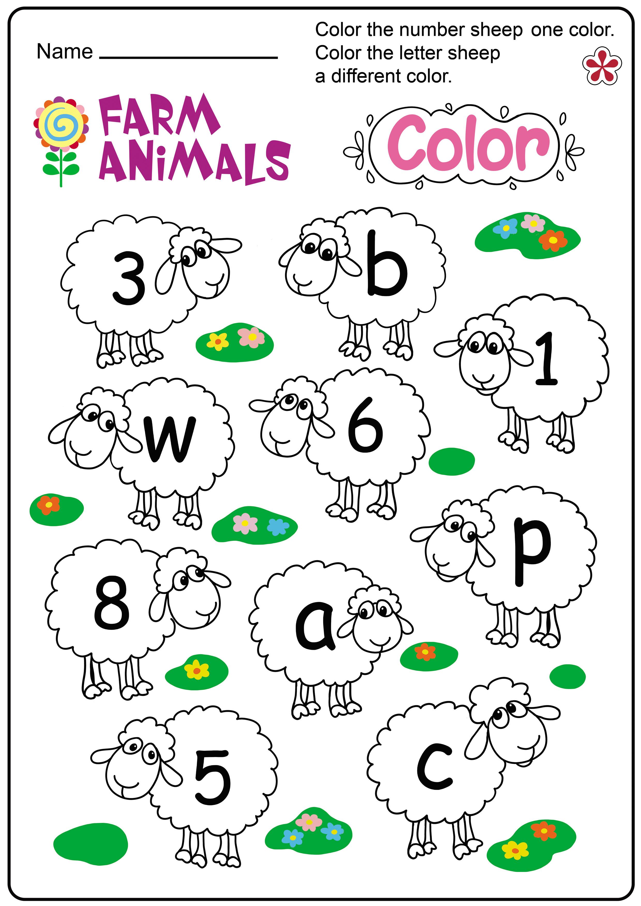 Farm Animal Letter Worksheet