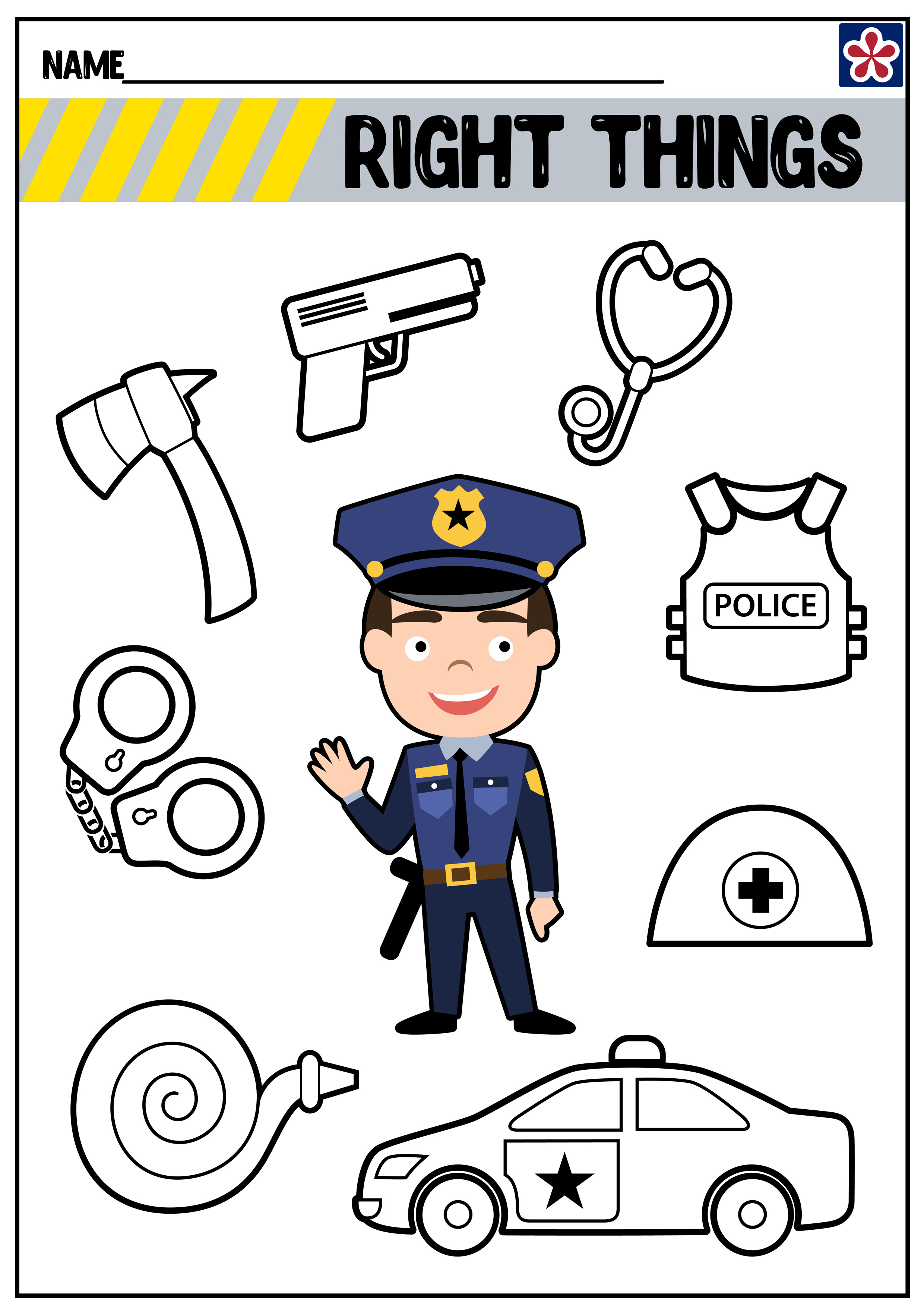 Community Helpers Worksheets Police Officer