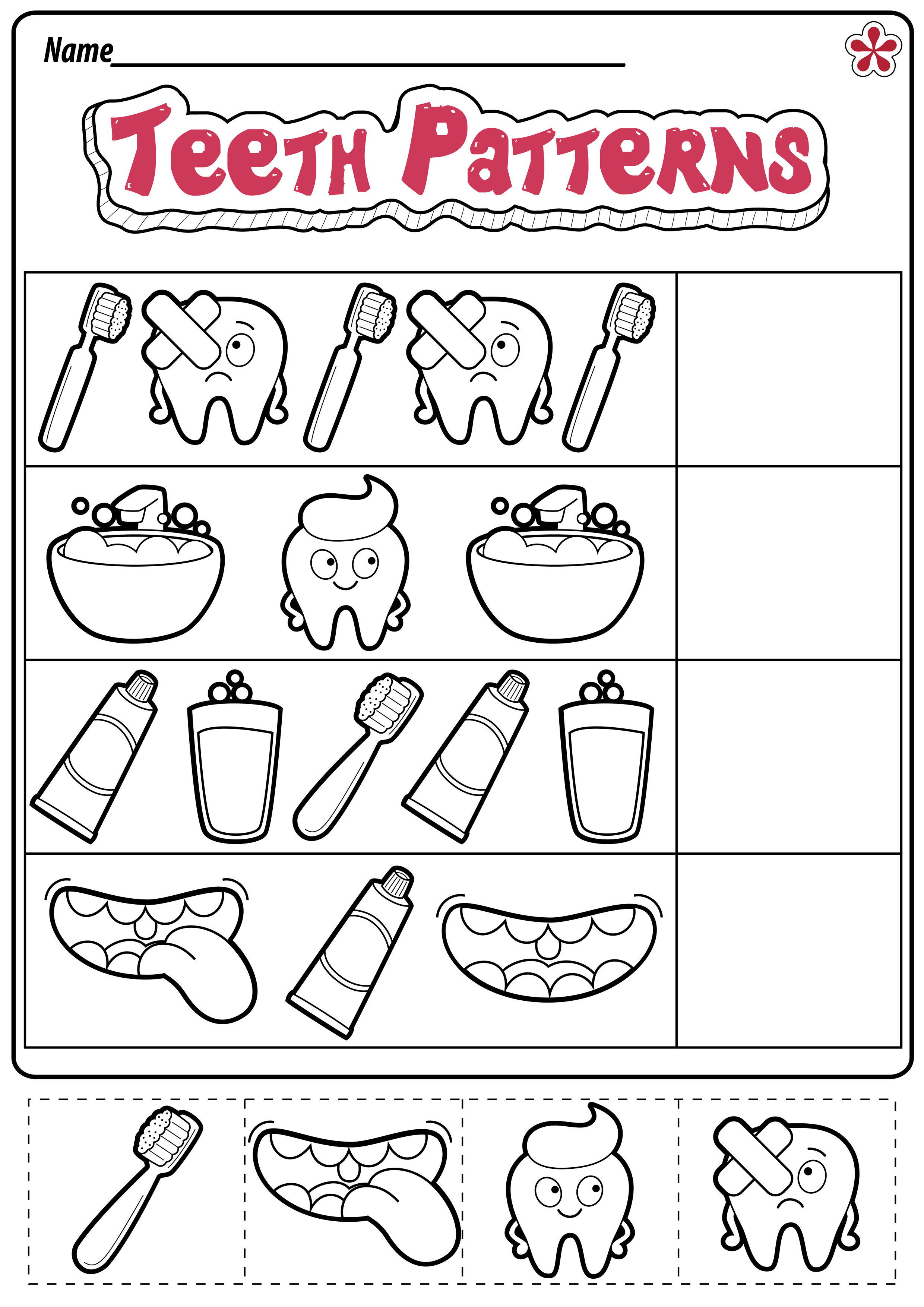 Dental Health Worksheets For Preschool And Kindergarten
