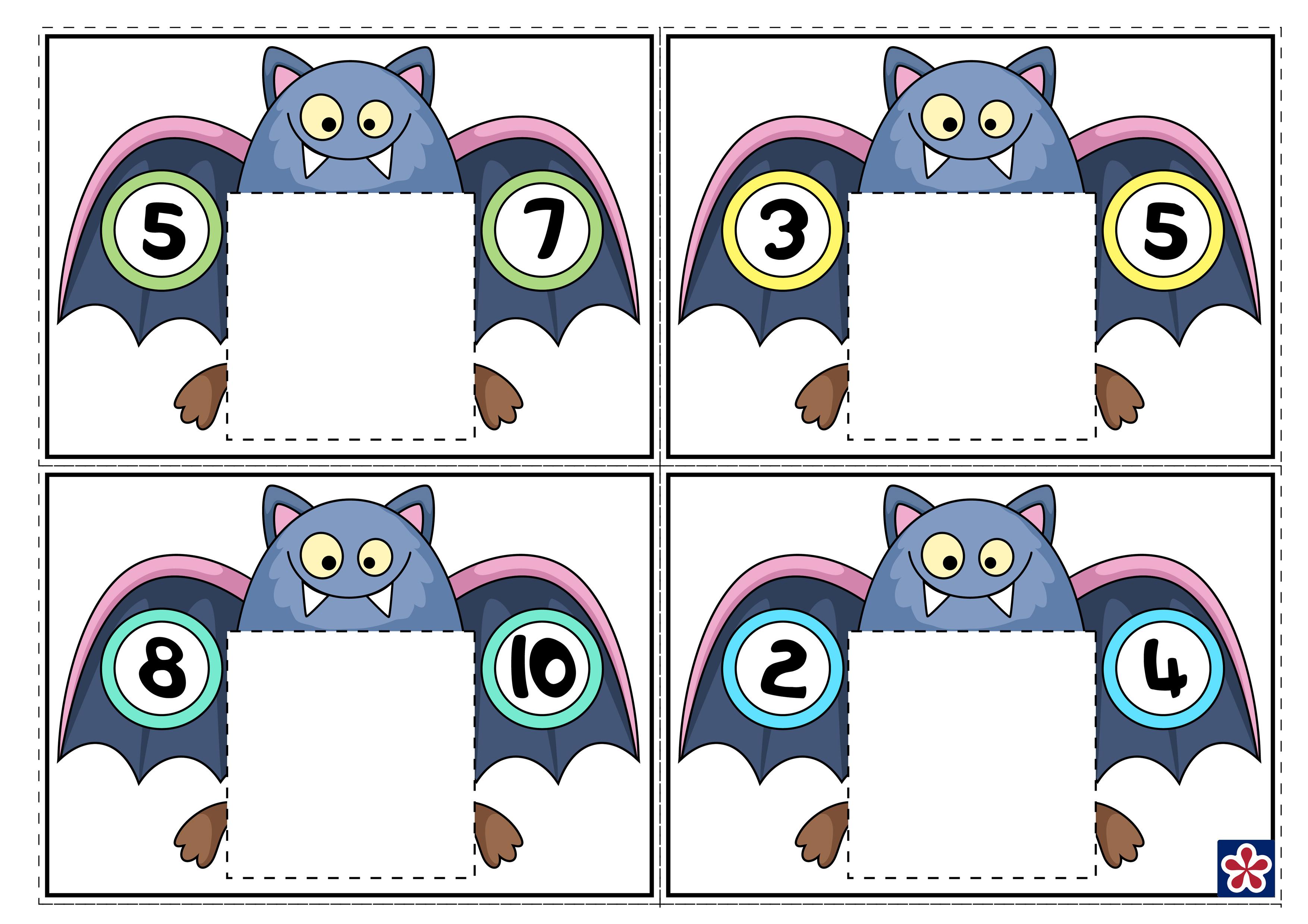 Bat Themed Counting Worksheets For Preschool Teachersmag