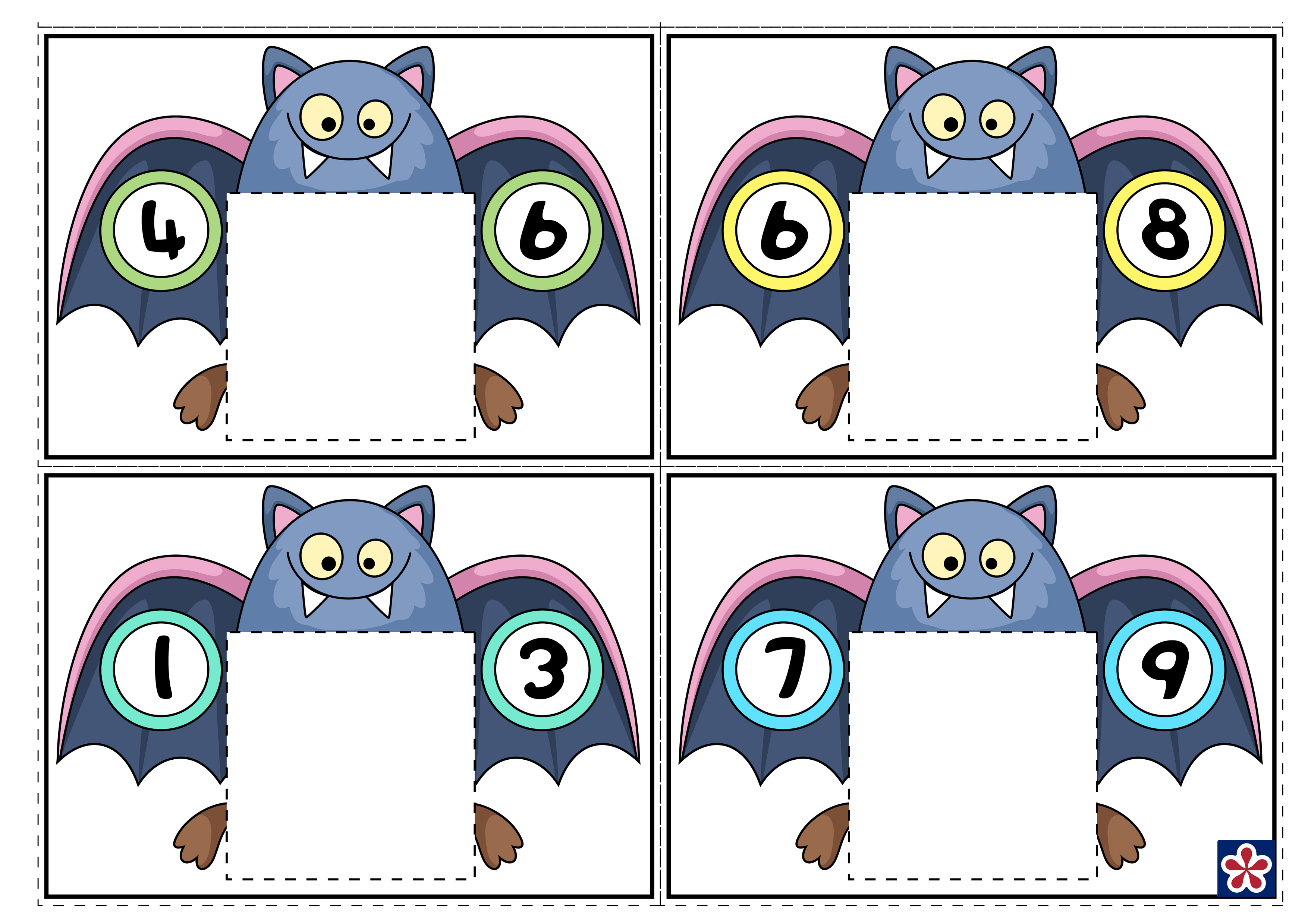 Bat Themed Counting Worksheets For Preschool