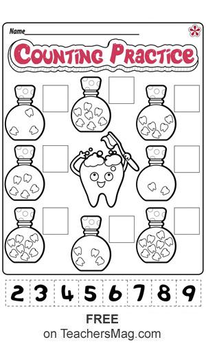 Dental Health Worksheets for Preschool and Kindergarten